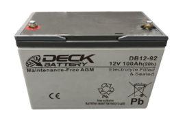 Bateria AGM 12v 100Ah Deck Sellada DB12-92