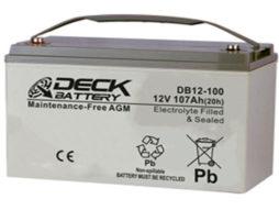 Bateria AGM 12v 107Ah Deck Sellada DB12-100