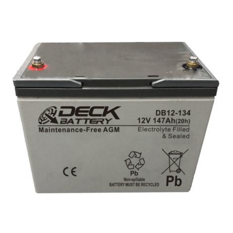 Bateria AGM 12v 147Ah Deck Sellada DB12-134