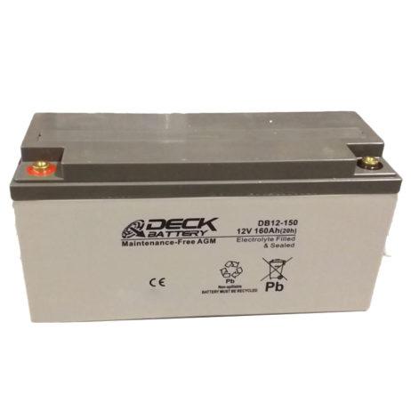 Bateria AGM 12v 160Ah Deck Sellada DB12-150