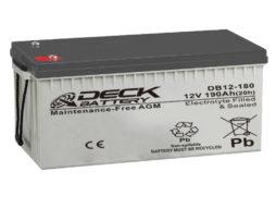 Bateria AGM 12v 190Ah Deck Sellada DB12-180