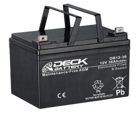 Bateria AGM 12v 36Ah Deck Sellada DB12-36