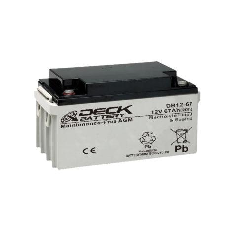 Bateria AGM 12v 67Ah Deck Sellada DB12-67