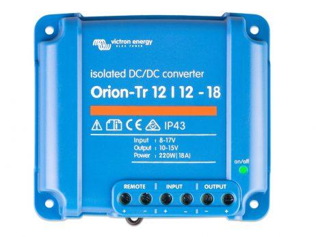 Convertidor CC-CC Orion 12V-12V 18A (220W) Aislado