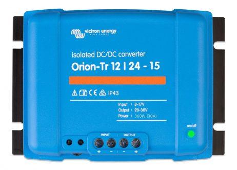 Convertidor CC-CC Orion 12V-24V 15A (360W) Aislado