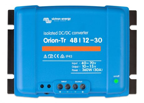 Convertidor CC-CC Orion 48V-12V 30A (360W) Aislado