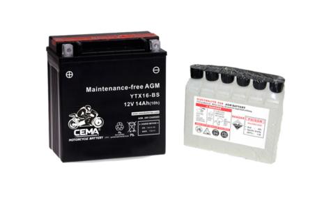 Batería de moto YTX16-BS