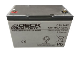 Bateria AGM 12v 100Ah Deck Sellada DB12-92