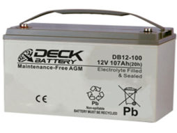 Bateria AGM 12v 107Ah Deck Sellada DB12-100