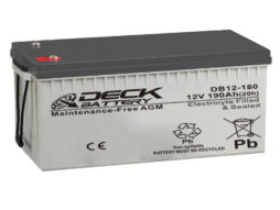 Bateria AGM 12v 190Ah Deck Sellada DB12-180