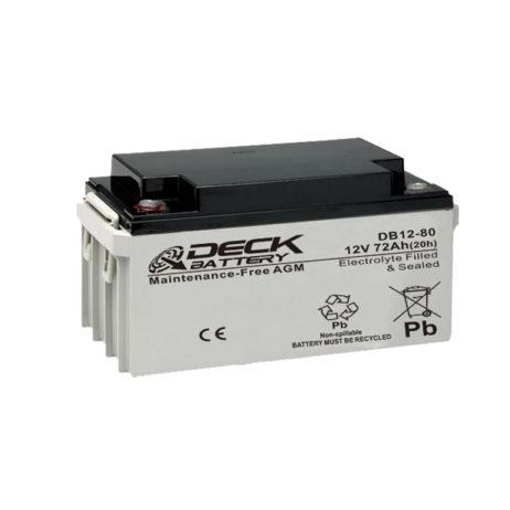 Bateria AGM 12v 80Ah Deck Sellada DB12-80