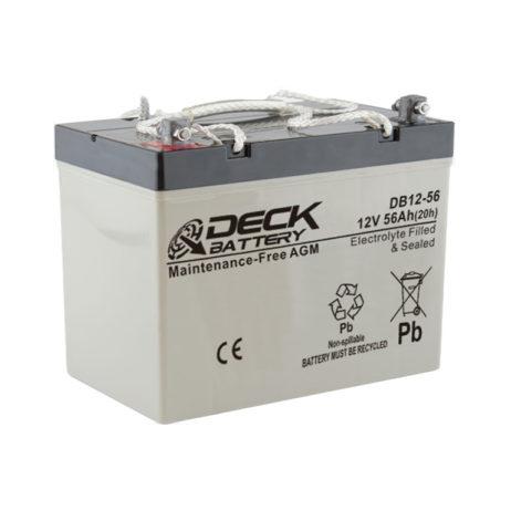Bateria AGM 12v 56Ah Deck Sellada DB12-56