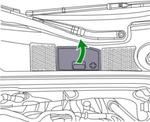 Cambiar batería de coche Audi a4 paso 2